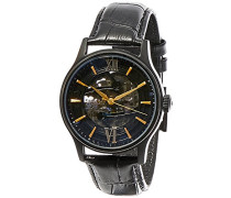 Erwachsene Analog Automatik Smart Watch Armbanduhr mit Leder Armband ES-8801-04
