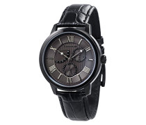 Cornwell Sweep Second Retrograde ES-8060-06 Armbanduhr mit Quarzuhrwerk, graues Zifferblatt mit klassischer Analoganzeige