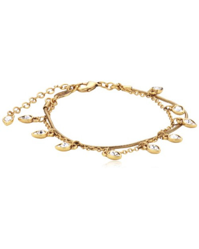 Jewelry Armband Messing Kristall Dazzle Drop Vergoldet 16.5 cm weiß 151342002