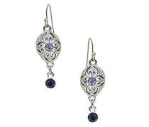 Silber, Montana Blue und Kristall, Saphir