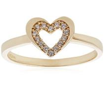 Ring 9 K 375 Gelbgold Oxyde de Zirconium R1625Y-N