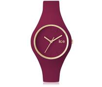 - ICE glam forest Anemone - Rote Damenuhr mit Silikonarmband - 001056 (Small)