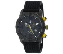 Armbanduhr XL Black Chrono Silikon BM521-622A