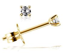 Ohrstecker Solitär Jana Solitär Ohrstecker Jana 0.10 ct. 585 Gelbgold Diamant (0.10 ct) weiß Brillantschliff - So O6732GG Ohrringe Schmuck