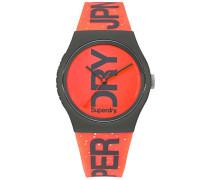 Analog Quarz Uhr mit Silikon Armband SYL189CE