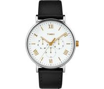 Datum klassisch Quarz Uhr mit Leder Armband TW2R80500