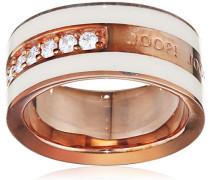 ! Ring 925 Silber teilvergoldet Zirkonia Weiß