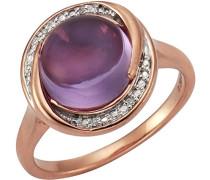 Ring 925 Sterling Silber rhodiniert Diamant 0.04 ct weiß Brillantschliff