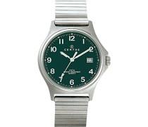– 615827 – Armbanduhr – Quarz Analog – Zifferblatt schwarz Armband Metall silber