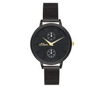 Time Multi Zifferblatt Quarz Uhr mit Edelstahl Armband SO-3581-MM