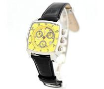 Chronograph Quarz Uhr mit Leder Armband 0262GSS