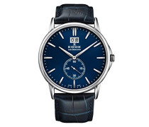 Analog Quarz Uhr mit Leder Armband 64012-3-BUIN