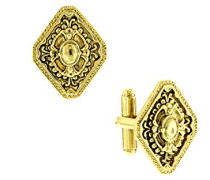 Manschettenknöpfe Gold Tone Diamantform