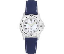 – Comfortkissen – 647401-Armbanduhr Analog Quarz Weiß Zifferblatt PU strap-blue