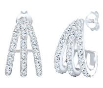 Ohrringe Creole Layer 925 Sterling Silber Swarovski Kristalle 0301791518