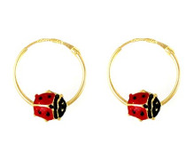 Damen-Ohrringe Creolen 18 Karat-BOAEA01012