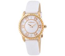 Damen-Armbanduhr Analog Quarz Weiß M1185WG