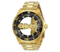 24694 Pro Diver Uhr Edelstahl mechanisch schwarzen Zifferblat