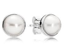 Damen-Ohrstecker 925 Silber Perle weiß - 290727P