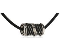 men Halskette 925 Sterling Silber Leder 50 cm C4098N/90/00/50