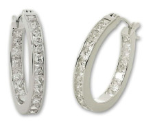 Jewelry Damen-Creole 925 Sterling Silber ZO-5824