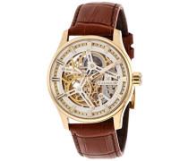Erwachsene Analog Automatik Smart Watch Armbanduhr mit Leder Armband ES-8076-03