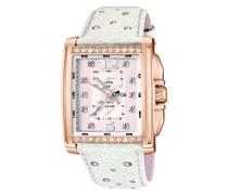 15868/1 – Armbanduhr, Damen, Leder, Farbe: weiß