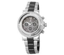 Armbanduhr für mit Analog Anzeige, Chronograph mit Edelstahl Armband - Wasserdichte Damenuhr mit zeitlosem, schickem Design - klassische