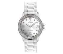 Damen-Armbanduhr Silikon weiß SO-2137-PQ