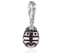 Damen-Charm 925 Sterling Silber rotes Ei HB 429