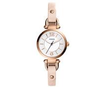 Damen Analog Quarz Uhr mit Leder Armband ES4340