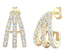 Ohrringe Creole Layer 925 Sterling gold Swarovski Kristalle 0301461518
