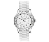 Damen-Armbanduhr Analog Silikon weiß SO-2250-PQ