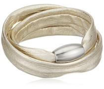 Damen-Armband Edelstahl Leder 50 cm - 51607529G1