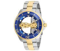 26243 Pro Diver Uhr Edelstahl mechanisch blauen Zifferblat