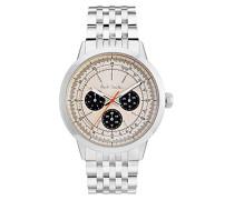Analog Quarz Uhr mit Edelstahl Armband P10003