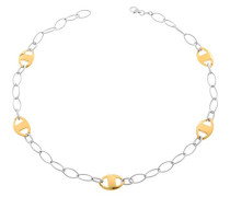 Jewelry Halskette ohne Anhnger 925 Sterling Silber Zweifarbig 45cm ZK-2649