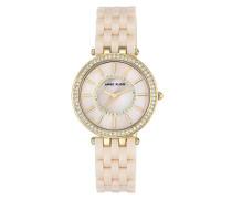Analog Klassisch Quarz Uhr mit Plastik Armband AK/N2620LPGB