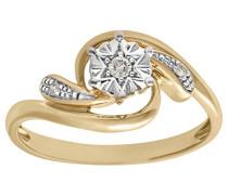 Damen-Ring 9 K Gelbgold P1 Diamant 0,05 ct