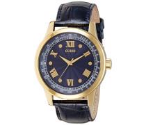 Herren-Armbanduhr Analog Quarz Leder W0662G3