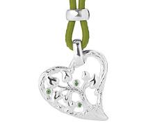 Anhänger Lebensbaum Love 925 Silber Brillantschliff Zirkonia grün LD LB 32