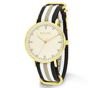 Armbanduhr Textil Streifen Analog Quarz 549974