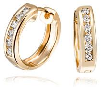 Ohrstecker Memoire 585 Gelbgold 12 Diamanten 0