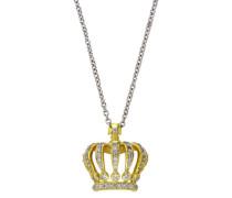 Halskette Fashion Messing teilrhodiniert Zirkonia 65 cm weiß 273050012