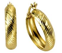 Gold Damen-Creolen 375 Gelbgold - 303310011-2