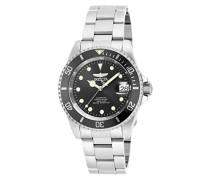 17044 Pro Diver Uhr Edelstahl Automatik schwarzen Zifferblat