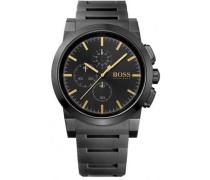 Chronograph Quarz Uhr mit Edelstahl beschichtet Armband 1513029