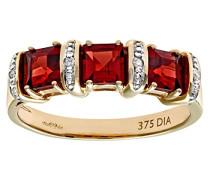 Damen-Ring 375 Gelbgold 9 K Diamant PR01810Y GT-Q