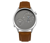 Herren Analog Quarz Uhr mit Leder Armband FC1284T