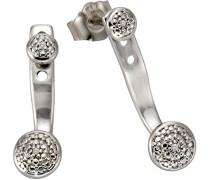 Ohrstecker 925 Sterling Silber rhodiniert Diamant 0.01 ct weiß Rundschliff 316220001